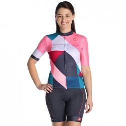 2019 Casteli Ventata GF Women's Cycling Jersey And Shorts Set