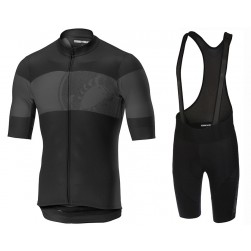 2019 Casteli Ruota Black Cycling Jersey And Bib Shorts Set