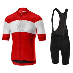 2019 Casteli Ruota Red Cycling Jersey And Bib Shorts Set
