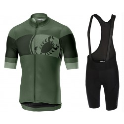 2019 Casteli Ruota Green Cycling Jersey And Bib Shorts Set