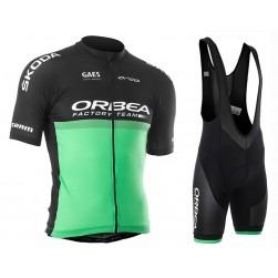 2019 Orbea Factory Racing Green Cycling Jersey And Bib Shorts Set