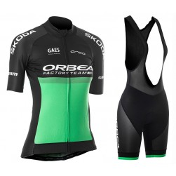2019 Orbea Factory Racing Green Women's Cycling Jersey And Bib Shorts Set