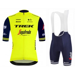 2020 Trek Segafredo Yellow Cycling Jersey And Bib Shorts Set