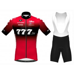 2020 Team 777.be Red Cycling Jersey And Bib Shorts Set