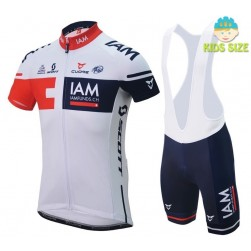 2016 Team IAM Short Sleeve Kids Cycling Jersey And Bib Shorts Set