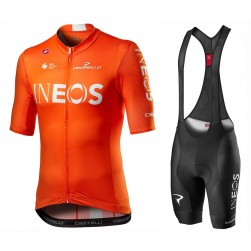 2020 INEOS Team Orange Cycling Jersey And Bib Shorts Set