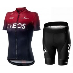 2020 INEOS Team Women's Cycling Jersey And Shorts Set