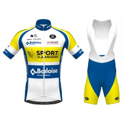 2020 SPORT Vlaanderen-Baloise Cycling Jersey And Bib Shorts Set