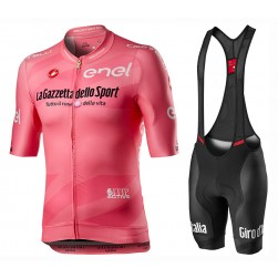 2020 GIRO D'ITALIA Maglia Rosa Cycling Jersey And Bib Shorts Set