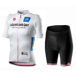 2020 GIRO D'ITALIA Maglia Bianca Women Cycling Jersey And Shorts Set