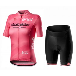 2020 GIRO D'ITALIA Maglia Rosa Women Cycling Jersey And Shorts Set