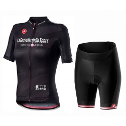 2020 GIRO D'ITALIA Maglia Nera Women Cycling Jersey And Shorts Set