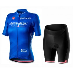 2020 GIRO D'ITALIA Maglia Azzura Women Cycling Jersey And Shorts Set