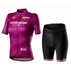 2020 GIRO D'ITALIA Maglia Ciclamino Women Cycling Jersey And Shorts Set