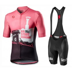 2020 GIRO D'ITALIA Hungary Big Start Cycling Jersey And Bib Shorts Set