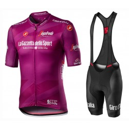2020 GIRO D'ITALIA Maglia Ciclamino Cycling Jersey And Bib Shorts Set