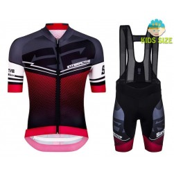 2016 Santini Interactive 3.0 Black-Red Kids Cycling Jersey And Bib Shorts Set