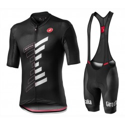 2020 GIRO D'ITALIA Trofeo Black Cycling Jersey And Bib Shorts Set
