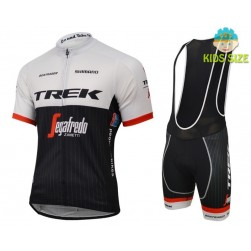 2016 Trek Segafredo Short Sleeve Kids Cycling Jersey And Bib Shorts Set