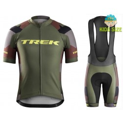 2016 Bontrager Trek RL Camouflage Kids Cycling Jersey And Bib Shorts Set