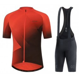 2021 Gore Fade Red Cycling Jersey And Bib Shorts Set