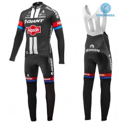 2016 Team Giant-Alpecin Thermal Long Sleeve Cycling Jersey And Bib Pants Set