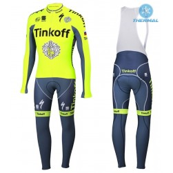 2016 Tinkoff Race Team Thermal Long Sleeve Cycling Jersey And Bib Pants Set