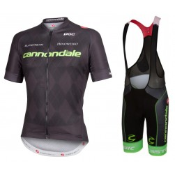 2016 Garmin Cannondale Black Edition Cycling Jersey And Bib Shorts Set