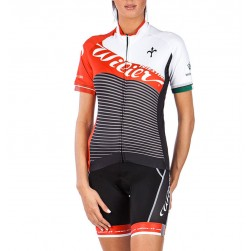 2016 Wilier Vale Black Women  Cycling Jersey And Bib Shorts Set