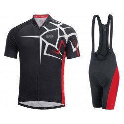 2017 Gore Element Adrenaline 4.0 Black-Red Cycling Jersey And Bib Shorts Set