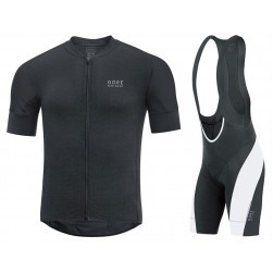 2017 Gore Pro Black Cycling Jersey And Bib Shorts Set