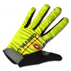 2017 Cаstelli Fluo Yellow Thermal Long Gloves