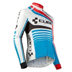 2016 Cube Teamline White-Blue Cycling Long Sleeve Jersey