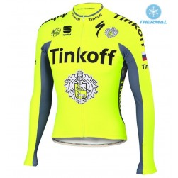 2016 Tinkoff Race Team Thermal Cycling Long Sleeve Jersey