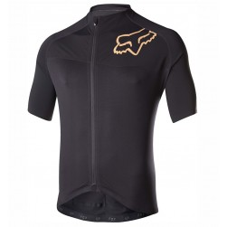 2017 Team FOX Black-Gold Cycling Jersey