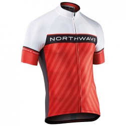 2017 Northwave Logo 3 White-Red Cycling Jersey