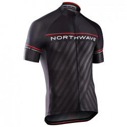2017 Northwave Logo 3 Black-Red Cycling Jersey