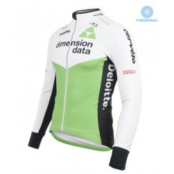 2018 Dimension Data White Thermal Long Sleeve Cycling Jersey