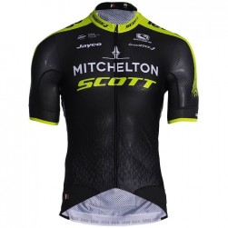 2019 Scott Mitchelton Black-Yellow Cycling Jersey