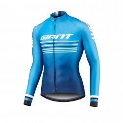 2019 Giant Race Day Light Blue Long Sleeve Cycling Jersey
