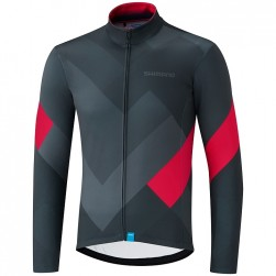 2019 Shimano Grey-Red Long Sleeve Cycling Jersey