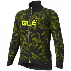 2019 ALE Camouflage Black-Yellow Long Sleeve Cycling Jersey