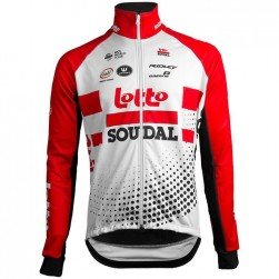2019 Team Lotto Red Long Sleeve Cycling Jersey