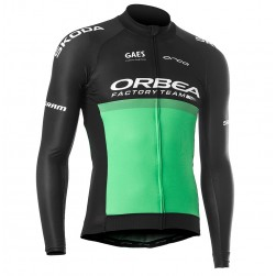 2019 Orbea Factory Racing Green Long Sleeve Cycling Jersey