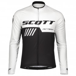 2019 Scott RC Team Black-White Long Sleeve Cycling Jersey