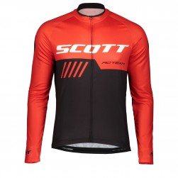 2019 Scott RC Team Black-Red Long Sleeve Cycling Jersey