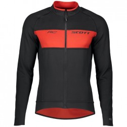 2019 Scott RC FF Black-Red Long Sleeve Cycling Jersey
