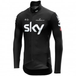 2019 SKY Team Black Long Sleeve Cycling Jersey
