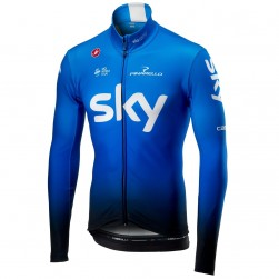 2019 SKY Team Blue Long Sleeve Cycling Jersey