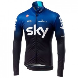 2019 SKY Team Black-Blue Long Sleeve Cycling Jersey